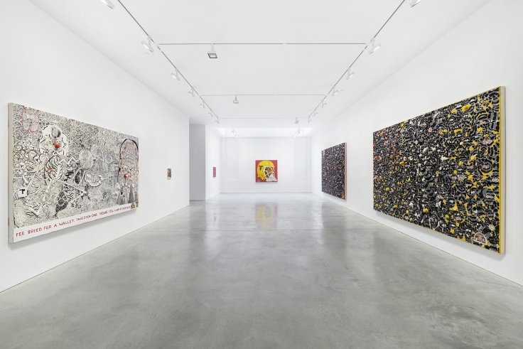 Installation view, Trenton Doyle Hancock:Something American,48 Walker St, September 17 - October 17, 2020