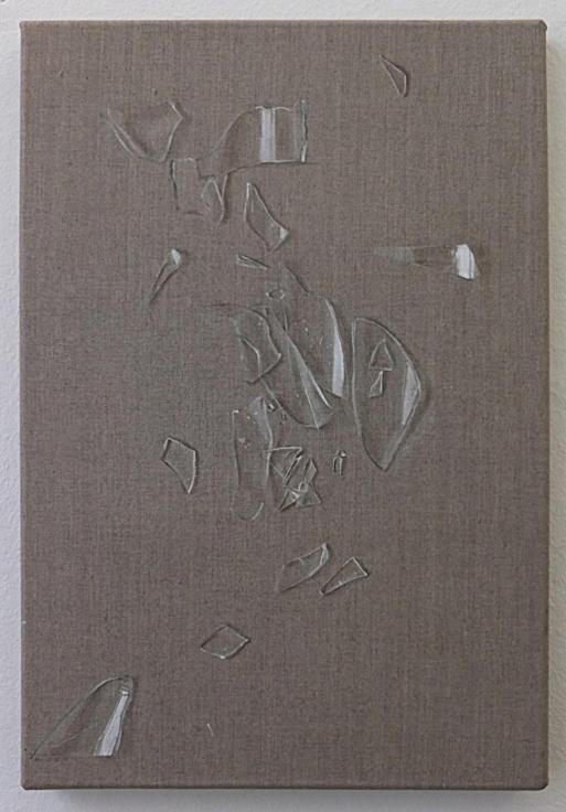, HELENE APPEL,Broken Glass, 2013, Watercolor and Acrylic on linen, 18.3 x 12.2 in (46.5 x 31 cm)