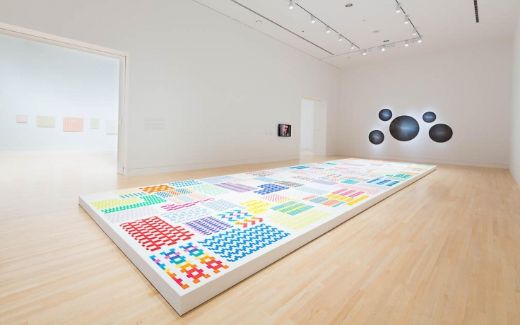 Installation view, Michelle Grabner,Weaving Life Into Art,Indianapolis Museum of Art, Indianapolis, IN, May 22- November 12, 2015,
