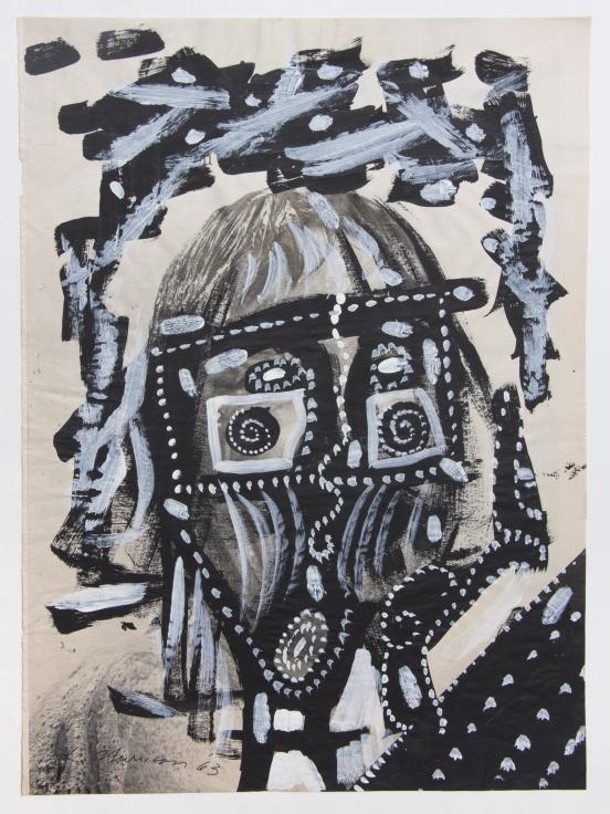 LEE MULLICANUntitled, 1963Acrylic on paper13 5/8 x 10 3/8 in., 34.6 x 26.4 cm