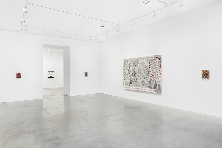 Installation view, Trenton Doyle Hancock:Something American,48 Walker St, September 17 - October 17, 2020,