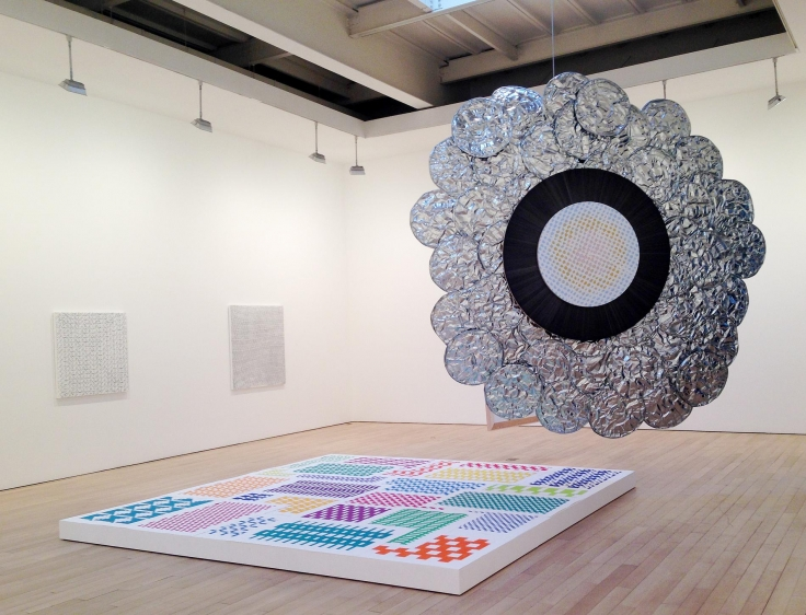 , MICHELLE GRABNER AND BRAD KILLAMMy Oyster, 2014Wood, galvanized steel, silverpoint and gesso on panel, enamel on panel, cast concrete, photography, archival inkjet print, paper weaving, various fasteners and pedestal 130 x 130 x 96 in. (330.2 x 330.2 x 243.8 cm)