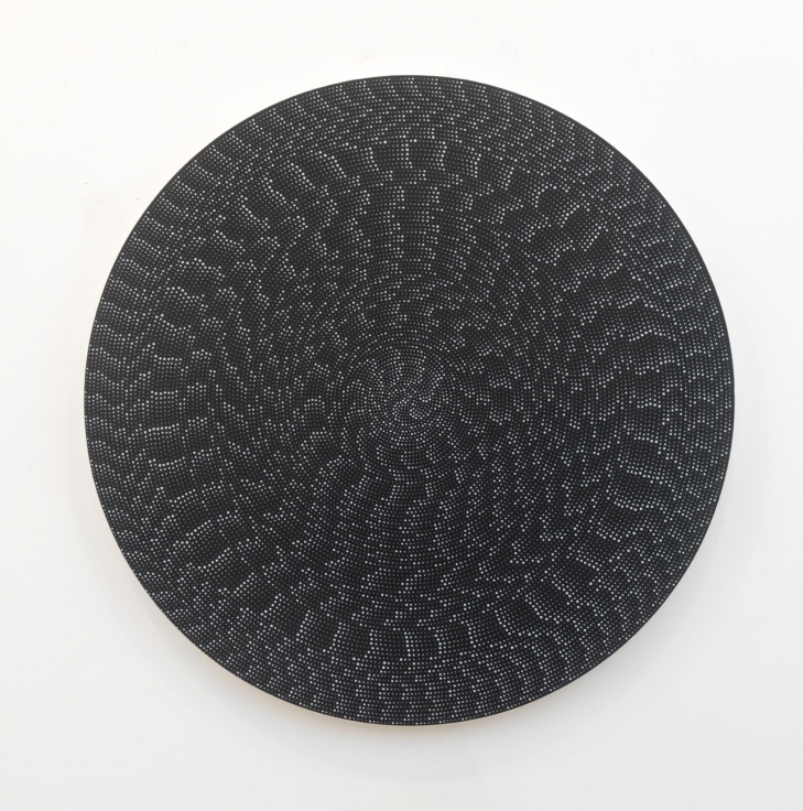 , MICHELLE GRABNERUntitled,2014Flashe on canvas on panel Diameter: 48 in. (121.92 cm)