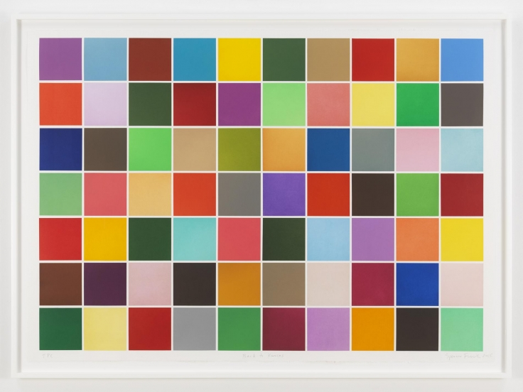 , SPENCER FINCHBack to Kansas,2015Color aquatint and chine collé on paper43 x 60 in.