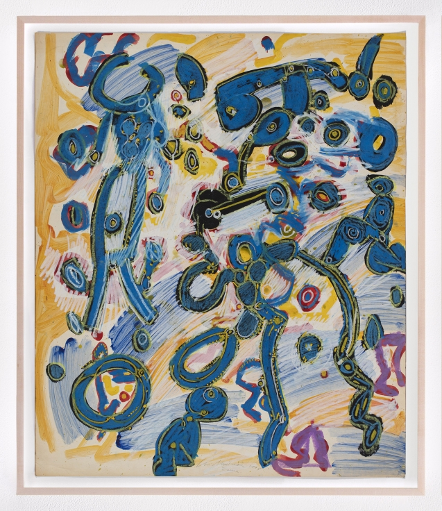 LEE MULLICANSummer world1965Oil, acrylic, and pastel on paper30 1/2 x 25 1/2 in.77.5 x 64.8 cmJCG9347