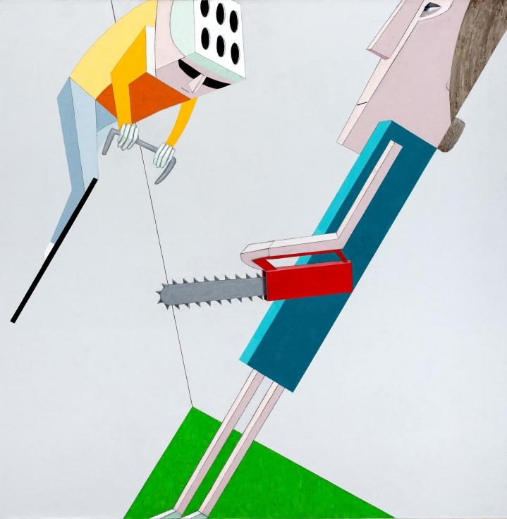 MERNET LARSEN, Chainsawer and Bicyclist,2014