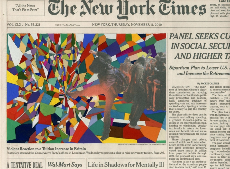 , FRED TOMASELLI Nov. 11, 2010,2010Gouache and archival inkjet print on watercolor paper8 1/4 x 10 1/2 in. (20.96 x 26.67 cm)