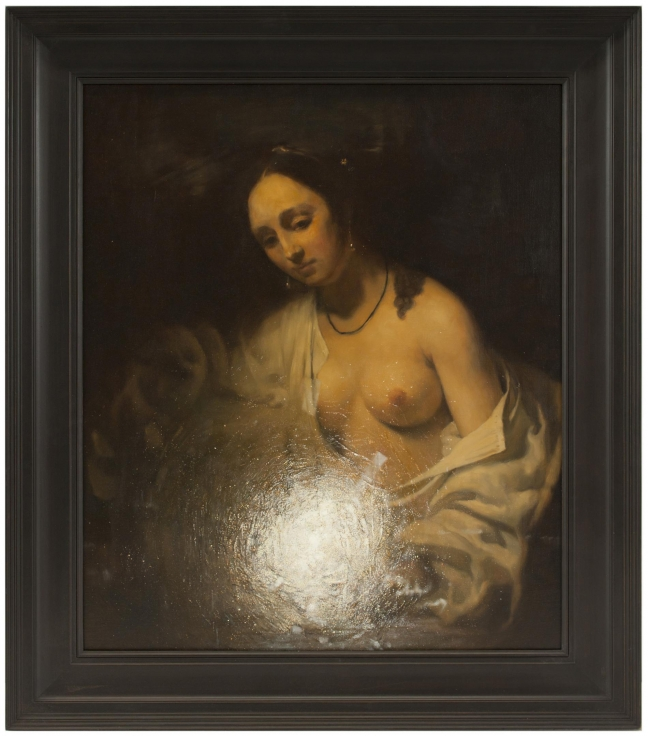 , XU ZHEN徐震(produced by MadeIn Company),Light Source -- Bathsheba Holding KingDavid's Letter,2014, Oil on canvas, 33 13/16 x 38 9/16 in.