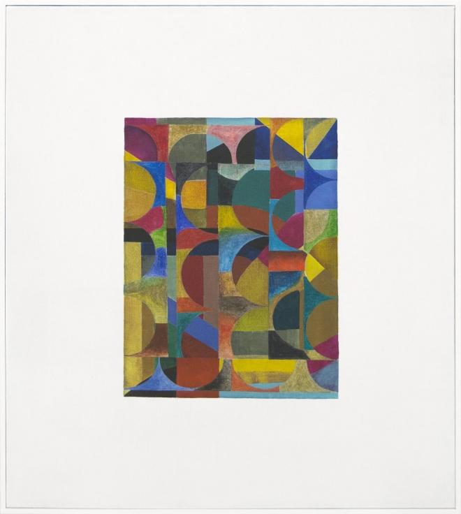 , SCOTT OLSON, Untitled, 2016, Oil on linen, maple frame, 27 1/2 x 23 1/2 x 1 in.
