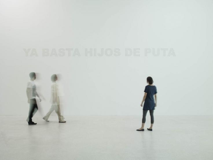 TERESA MARGOLLES, Ya basta hijos de puta, 2010