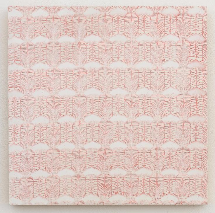 , MICHELLE GRABNERCurtain Sample,1998Enamel on panel15 3/4 x 15 3/4 in. (40 x 40 cm)