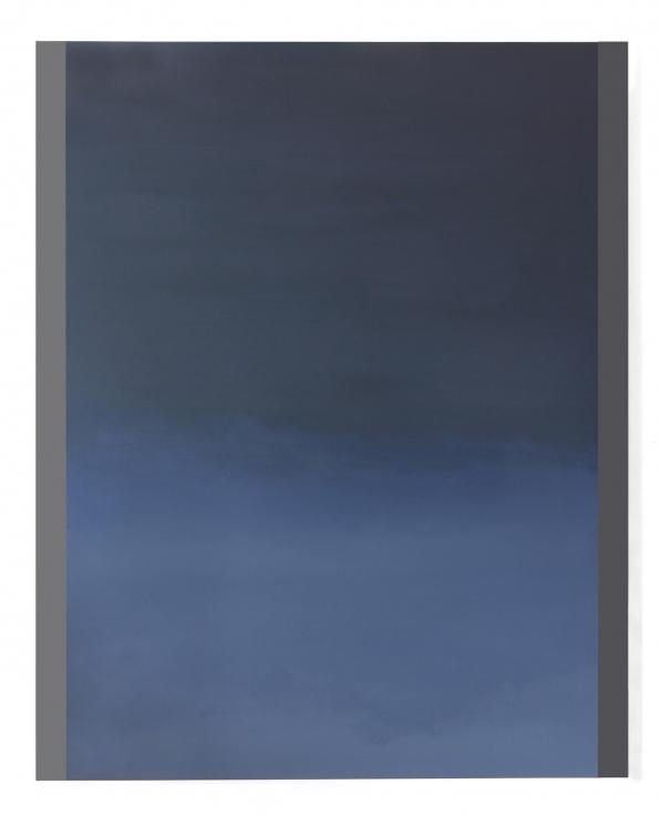 , BYRON KIM, Layl Almadina (Halo 3), 2015, acrylic on canvas mounted on board, 60 x 48 in.