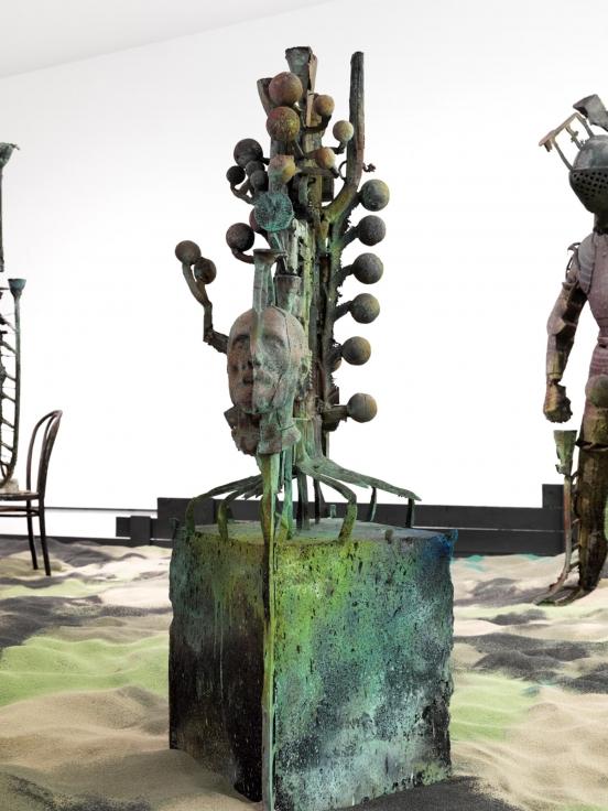, FOLKERT DE JONGSpiritual Generator,2014 Patinated bronze70 13/16 x 33 7/16 x 27 1/2 in. (180 x 85 x 70 cm)