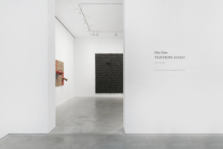 Installation views, Elias Sime,TIGHTROPE: ECHO!?, James Cohan, 48 Walker St, March 19 - April 24, 2021