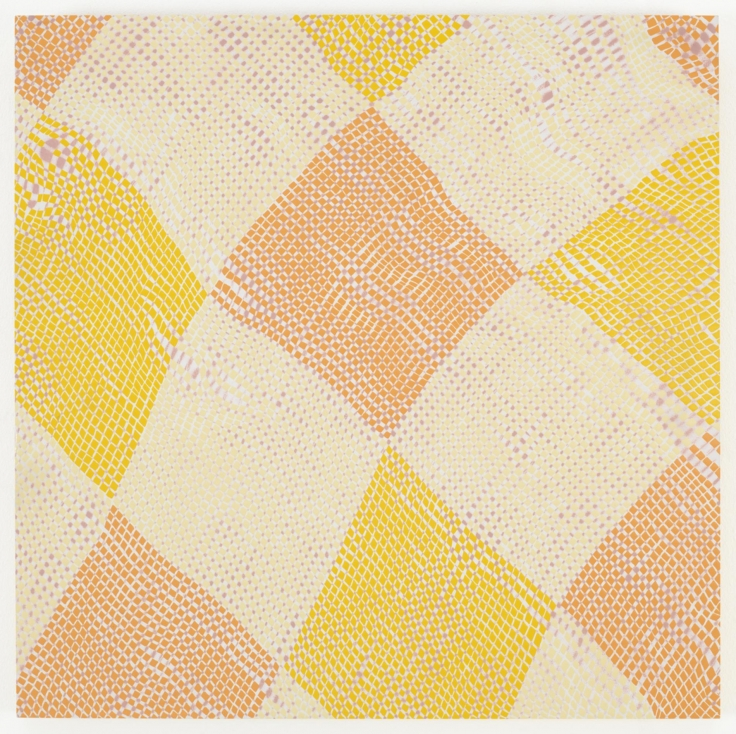 , MICHELLE GRABNERUntitled,1998Enamel on panel19 3/4 x 19 3/4 in. (50.2 x 50.2 cm)