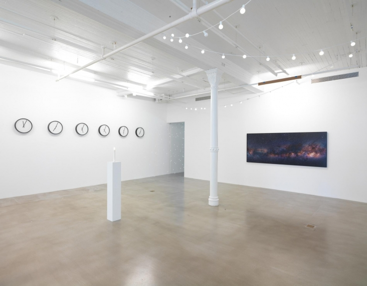 Installation view, Katie Paterson,From Earth into a Black Hole, James Cohan, 291 Grand Street, September 16 - October 16,2016