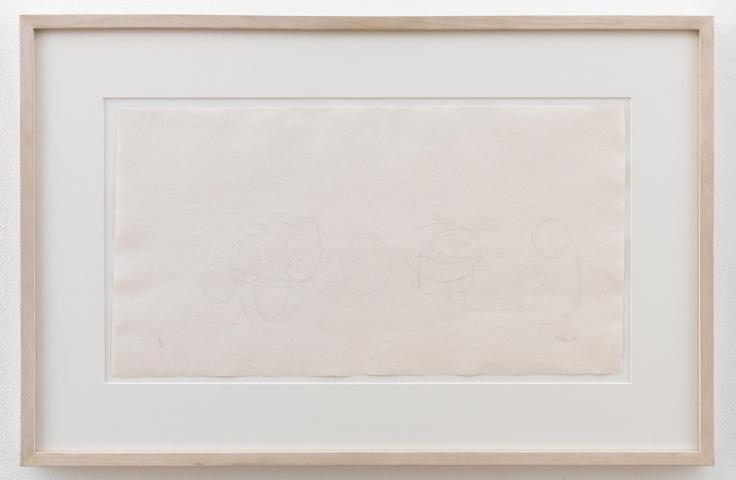 , JOHN CAGEWhere R = Ryoanji R/1 – 2/88,1988Graphite on handmade paper16 7/8 x 26 x 1 1/4 in. (42.9 x 66 x 3.2 cm)