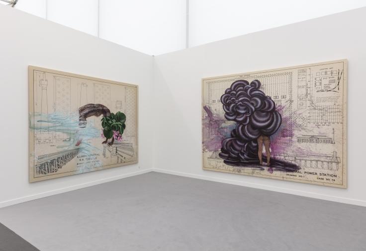 Installation view, Firelei Báez inDiálogos, Frieze New York, May 1 - 5, 2019