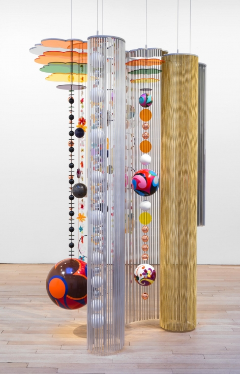 , Marola, 2015, Acrylic, hand-painted enamel on alumnium, stainless steel, polyester, 100 x 72 x 56 inches, 254 x 182.9 x 142.2 cm