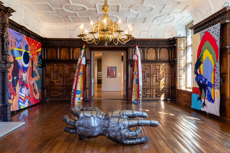 Installation view, Christopher Myers,Rotherwas Project 5: The Red Plague Rid You for Learning Me Your Language,Mead Art Museum, Amherst College, Amherst, MA, September 10, 2019 - March 15, 2020