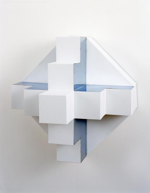 , ROBERT SMITHSON,Untitlted [Ziggurat], 1966,Paint on metal, 23 x 23 x 19 in.