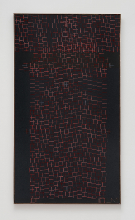 LEE MULLICANPoints of Vision1977Alkyd and oil on canvas50 x 28 in.127 x 71.1 cmJCG9445
