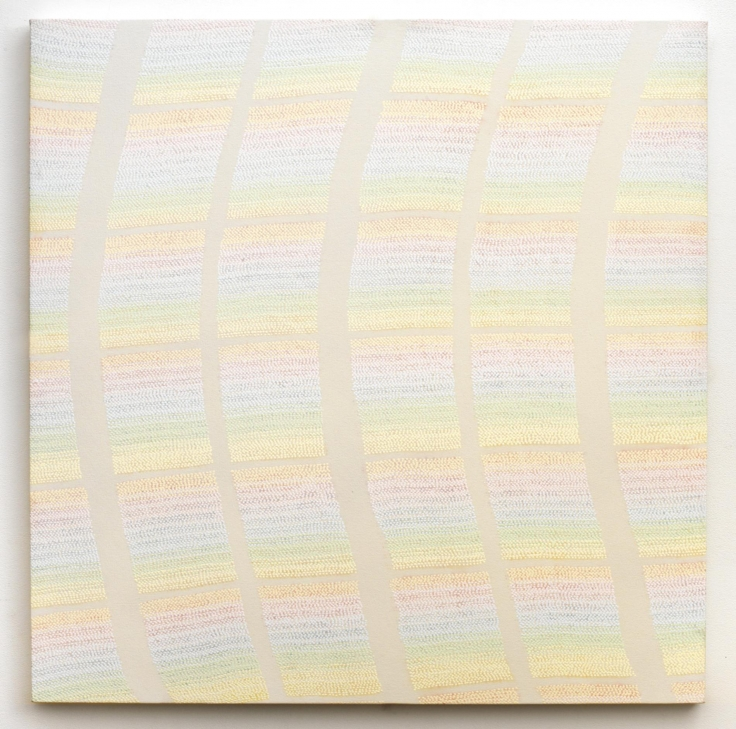 , MICHELLE GRABNERUntitled,1999Enamel on canvas45 x 44 in. (114.3 x 111.8 cm)