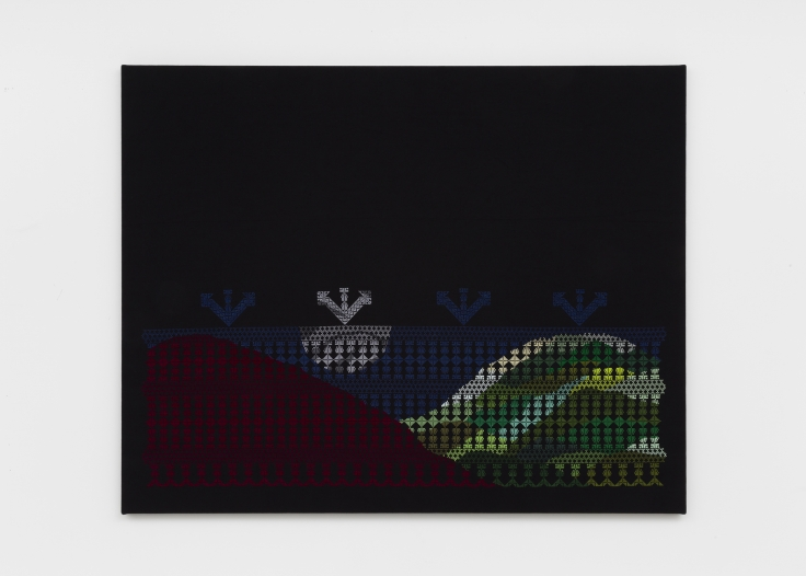 black cloth with colorful embroidery