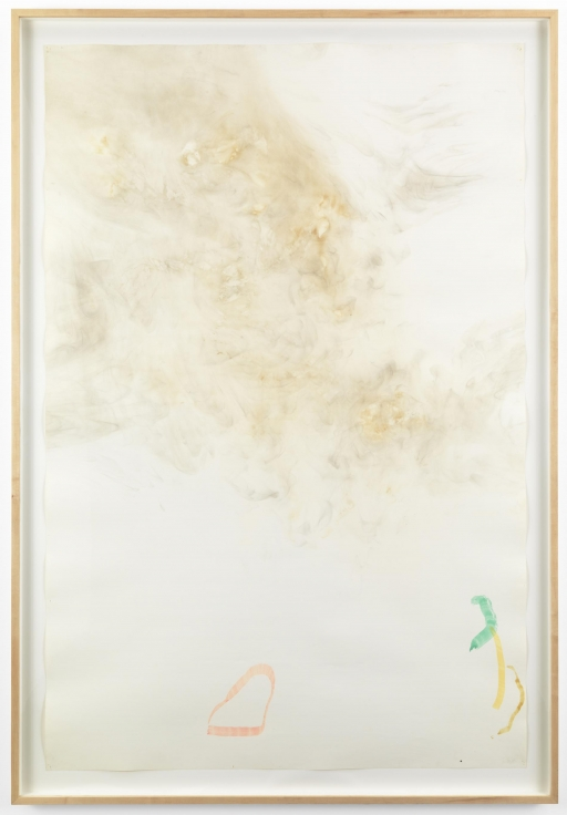 , JOHN CAGERiver Rocks and Smoke 04/09/90 #7,1990Watercolor on Bee #844, 72-inch wide roll paper prepared with fire and smoke78 x 53 3/4 x 2 1/2 in. (198.1 x 136.5 x 6.3 cm)