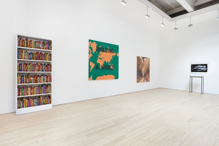 Borders,installation view at James Cohan, 533 West 26 Street, January 10 - February 23, 2019.