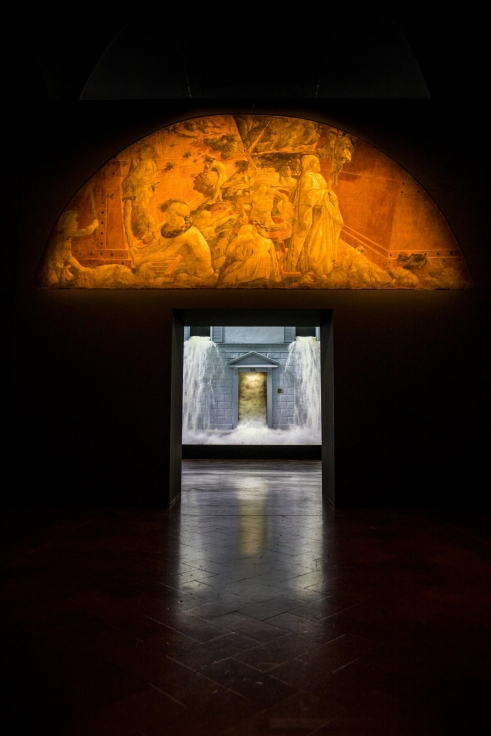BILL VIOLA Installation view,Electronic Renaissance,Palazzo Strozzi, Florence, Italy,March 10 – July 23,2017