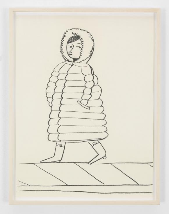 GRACE WEAVER woman in a puffer coat, 2018