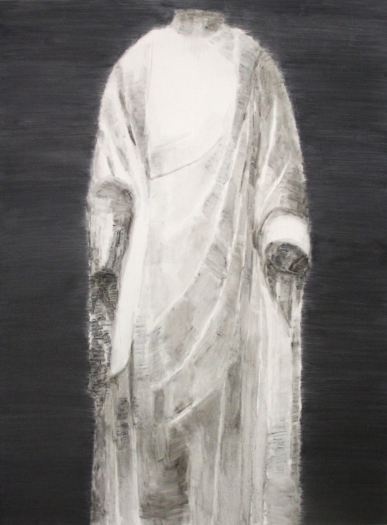 , SHI ZHIYING,White Marble Buddha No.5, 2014, Oil on canvas, 94.5 x 70.9 in (240 x 180 cm)