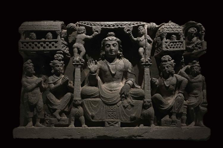 Maitreya Frieze, Gandhara, 3rd century