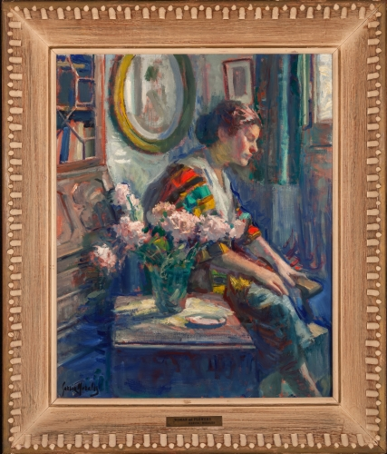 Interior - Woman with Flower - Morales