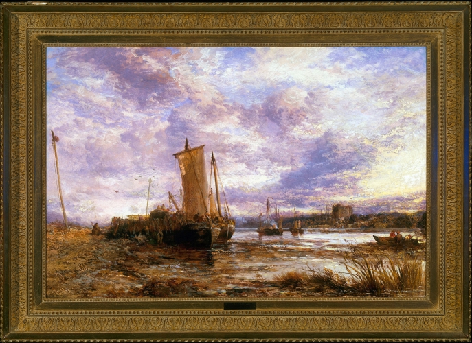 Webb, Fishing boats at low tide