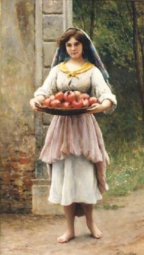 Blaas, Eugene, Basket of Pomegranates