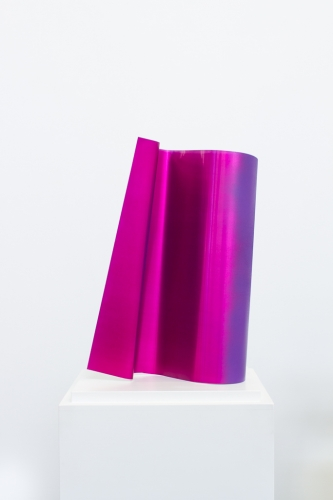 MICHAEL VICKERS | TUNNEL  | SPRAY PAINT ON ANODIZED ALUMINUM | 16.5 X 9.5 X 6 INCHES | 2015