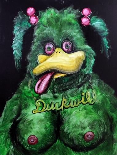 JOE BECKER | DUCKWILD | OIL ON PANEL | 18 X 24 INCHES | 2015