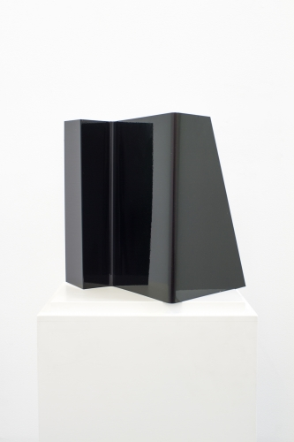 MICHAEL VICKERS | MAYALL'S OBJECT | PEARLESCENT AUTOMOTIVE PAINT ON GALVANIZED STEEL | 12 x 12 x 8 INCHES | 2015