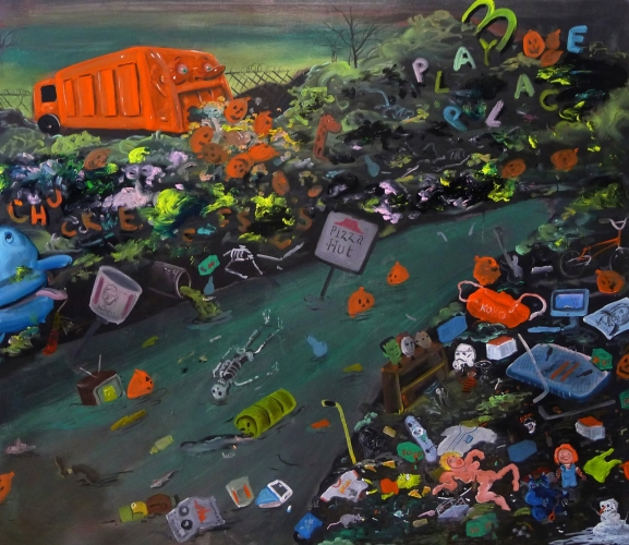 JOE BECKER | FLOTSAM AND JETSAM | OIL ON PANEL | 40 X 48 INCHES | 2015