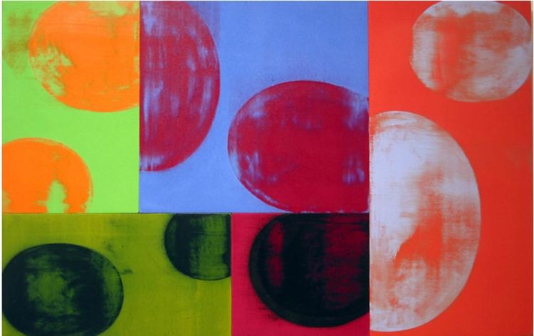 Charles Arnoldi Negative Pick Up work on canvas