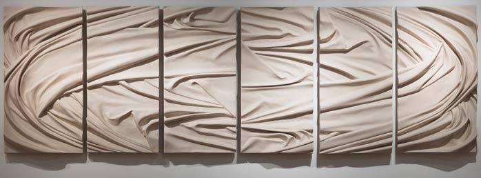 Karen Lamonte ceramic drapery vortex