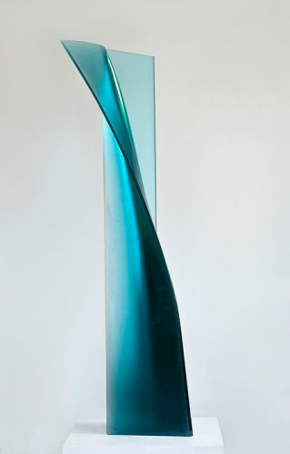 Vladimira Klumpar's light blue cast glass sculpture