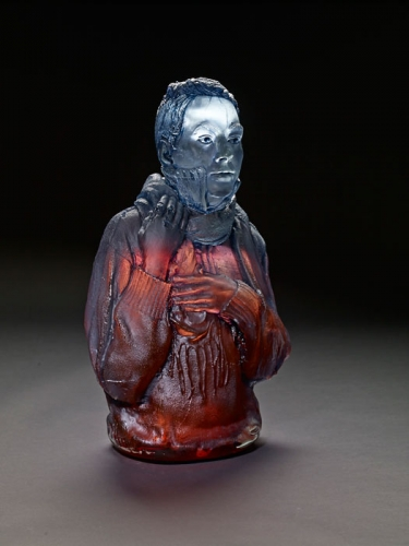 Oben Abright's glass homeless figure