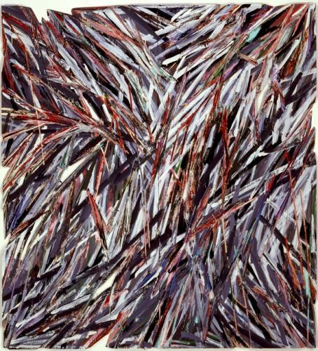 Charles Arnoldi Northfork oil on plywood