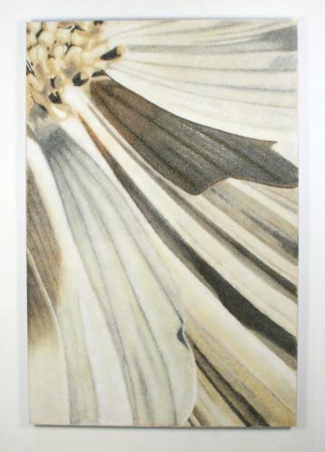 David Willis' cosmos detail made of glass frit