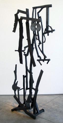 Charles Arnoldi unique bronze sculpture sod buster