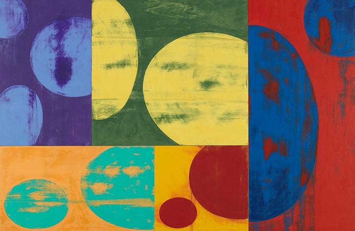 Charles Arnoldi Facelift acrylic on canvas, ellipse series