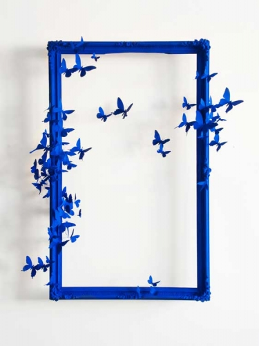 Paul Villinski's Mirror VIII blue butterflies